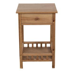 Clayre & Eef Nachttisch 64701  - Braun Nachtschrank Nachtkonsole Wood