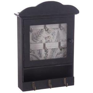 Schlüsselschrank, Aufbewahrungsbox aus Holz, Vintage, Schwarz - Atmosphera, Farbe:schwarz