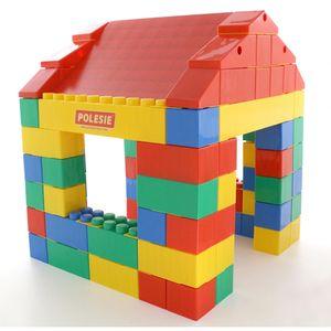 WADER Haus aus XXL Bausteine 134-tlg. Set Bauklötze Riesen Spielbausteine