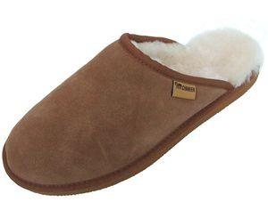 Chamier warme Herren Lammfell Haus Pantoffeln Adam camel, durchgehend nur Lammfell, leichte Sohle
