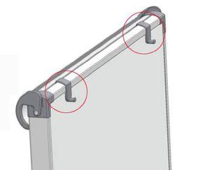 FRANKEN Zapfenblockhalter für Flipchart FC41 / FC81 2 Stück