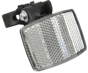 FISCHER Fahrrad-Frontreflektor mit Vorbaubefestigung schwarz / weiß
