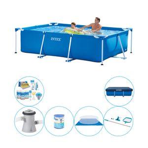 Intex Frame Pool Rechteckig 260x160x65 cm - Pool Combi Deal