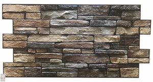 3D PVC FLIESEN Wandpaneele Wandverkleidung PVC-Verkleidung Dark Slate Wand Steinimitation (0,47qm)
