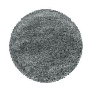 Super Soft Shaggy Hochflor Teppich Wohnzimmerteppich Flor Weich, Farbe:Hellgrau, Grösse:120 cm Rund