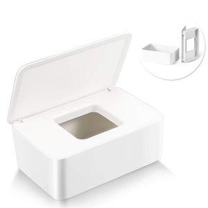 Feuchttücher-Box,Baby Feuchttücherbox,Baby Tücher Fall,Toilettenpapier Box,Tissue Aufbewahrungskoffer,Taschentuchhalter,Kunststoff Feuchttücher Spender,Tücherbox,Serviettenbox (Weiß)
