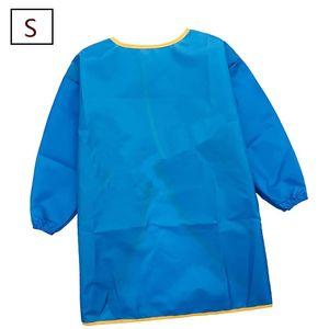 Kinder 3-7 Jahre, 1er Malkittel/Bastelschürze/Langarm Kittel/Wasserdichter Schürze für Jungen und Mädchen S