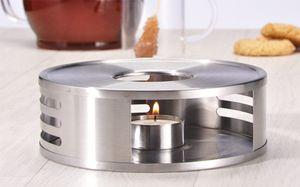 Edelstahl Stövchen inkl. Teelichthalter Kaffee Tee Wärmer Wärmeplatte 15,5 cm