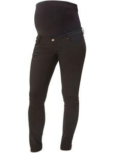 Mamalicious Umstandshose Schwangerschaft Skinny Chino Jeans Umstandsmode , Farben:Schwarz, Größe:34W / 32L