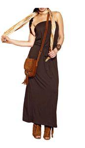 APART Maxikleid, dunkelbraun Kleider Größe: 36