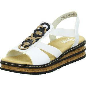 Rieker Damen Sandalette in Weiß, Größe 41