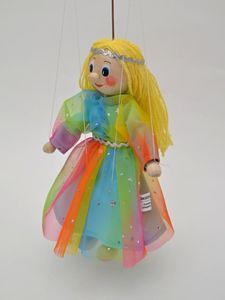 Dekorationsartikel Marionette Fee-Regenbogen 20cm