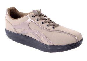 Aktiv Outdoor Schuhe Fitnesschuhe Fitness Sneaker Freizeitschuhe Sportschuhe, Farbe:Beige, Größe:39