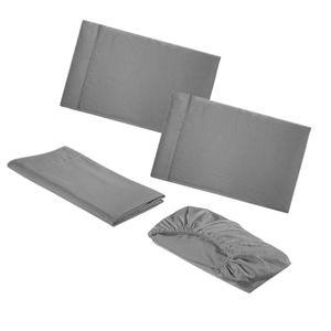 4Pcs Plain Coloured Brushed Home Textiles Einfachheit Zarte Bettwäsche im europäischen Stil -Full