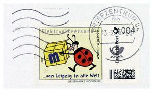 FDC mit 4-Cent-Briefmarke, 13.02.2015, Wellenstempel M-ware® ID15590
