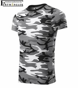 T-Shirt Camouflage 146 / 10 Jahre grau Furtwängler Freizeitshirt Baumwolle 160 g/m²