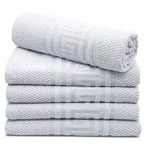 Duschtücher 5er Set, Baumwolle, 70x140 cm, blau