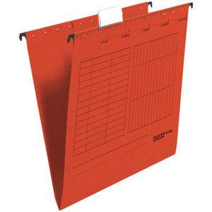 15 x FALKEN Hängemappe DIN A4 UniReg Rot 230 g/m² Kraftkarton