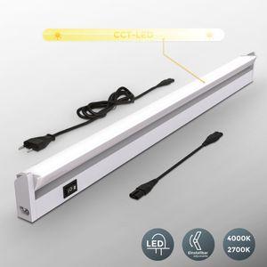 LED Unterbauleuchte Schwenkbar Küchenleiste Schrankleuchte Schranklampe Titan 55 cm 8 Watt 450 lm Lichtfarbe einstellbar silberfarbig B.K.Licht