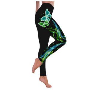 Frauen Mode Schmetterling Print Yoga Hose Plus Size Casual Sporthose mit hoher Taille Größe:XXXL,Farbe:Grün