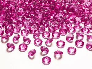 100 Dekosteine Diamanten 12mm, Farbe:fuchsia 187