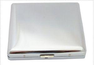 Steel Zigaretten-Etui für 20 Zigaretten Feder-Öffnung Poliert Zigaretten-Box Schachtel Aufbewahrung Edel Schutz Kippen-Schachtel Case