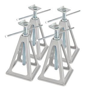 Alu Stützbock 4er Set | L-Profil | 1000Kg Tragkraft | 42cm Höhe | L-Aufnahme