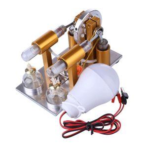 Doppelzylinder Dampf Wärme Stirling Motor Motormodell DIY Physik Wissenschaft Spielzeug