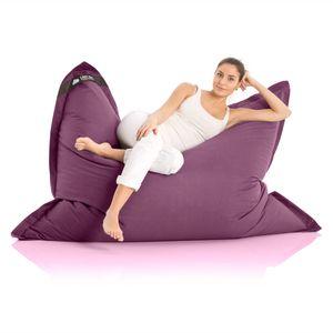 Original LAZY BAG Indoor & Outdoor Sitzsack XXL 400L Riesensitzsack Sitzkissen Sessel für Kinder & Erwachsene 180x140cm - Violett