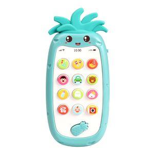 Handy-Spielzeug mit leichter Musik und Sounds Silikon-Beissring Baby Multifunktionales Smartphone-Spielzeug fuer Babys Kleinkinder Kleinkinder 6 Monate +