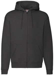 Fruit of the Loom Premium Hooded Sweat Jacket, Farbe:schwarz, Größe:M