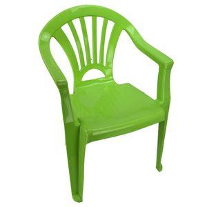 Kinderstuhl Gartenstuhl Stuhl für Kinder in blau, grün, orange oder pink Garten, Farbe:grün