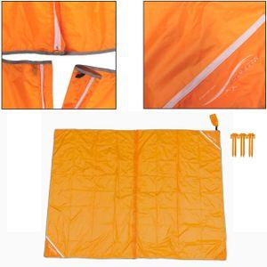 Meerweh teilbare Stranddecke orange XXL ca. 200x250 cm ultraleicht