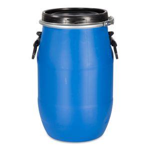 30 Liter Deckelfass, Kunststofffass, Futtertonne, Fass, Plastikfass Farbe blau (30 D)