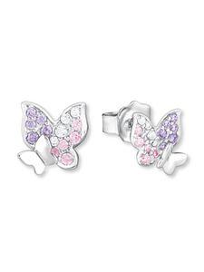 Prinzessin Lillifee Kinder Ohrringe Silber Schmetterling Zirkonia 2021063