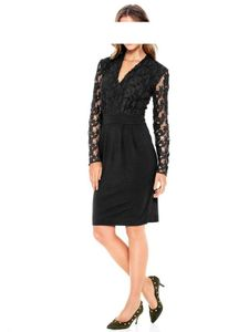 Heine - Best Connections Kleid m. Spitze, schwarz Kleider Größe: 34