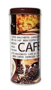 KAFFEEDOSE aus Metall Ø8x17,5cm Kaffeepaddose Kaffee Paddose Coffee Blechdose Blech 00