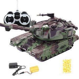 1:32 RC Kampfpanzer Schwere Große Interaktive Militärischen Krieg Fernbedienung Spielzeug Auto mit Schießen Kugeln
