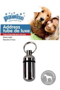 Adresskapsel Hunde / Katzen Adressanhänger - Address tube de luxe