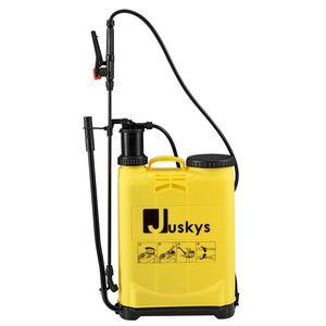 Juskys Drucksprüher DSF16L 16 Liter – Drucksprühgerät mit verstellbarer Düse – Unkrautspritze inkl. Trageriemen, Schlauch & Lanze