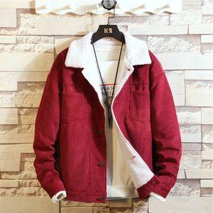 Herren New Winter Style Pure Cord verdickt Thermal Coat Mode Casual Coat Größe:M,Farbe:Kupfer
