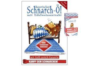 Bayerisches (Anti) Schnarchöl - Kampf dem Schnarchen