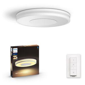 Philips Hue Bluetooth White Ambiance Deckenleuchte Being in Weiß mit Dimmschalter 348mm