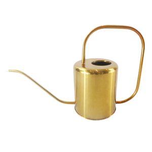 1.5L Goldene Edelstahl Gießkanne Topf Garten Wasser Werkzeuge Mit Langem Mund