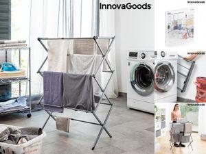 Zusammenklappbarer und ausziehbarer Metall-Wäscheständer mit 3 Höhenstufen Cloxy InnovaGoods (11 Stangen)
