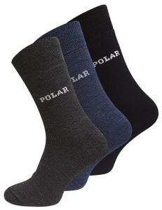 VCA® THERMO-POLAR-Socken 6 Paar, Vollfrottee Schwarz/Grau/Blau 43-46