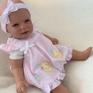 Baby Mädchen Set 3-teilig Kleid Höschen + Haarband Gr. 0-3 Monate (56/62)