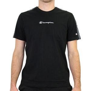 Champion T-Shirt mit Streifen Herren Schwarz (215315 KK001) Größe: S