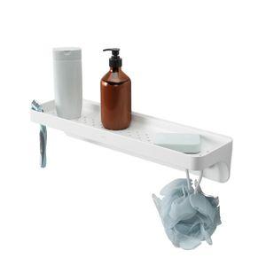 Umbra Duschregal Flex Sure-Lock, Duschablage, Ablage, Bad Organizer, Kunststoff, Weiss, 1013862-660