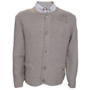 Herren Trachten Wolljanker Strickjacke Trachten Jacke, Größe:50/M, Farbe:Ecrue